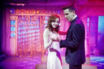 Evelyn Hoskins as Carrie and Greg Miller Burns as Tommy in CARRIE - THE MUSICAL. Photo Credit Claire Bilyard