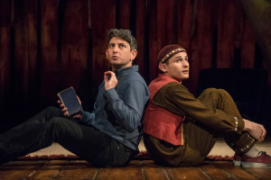 The Kite Runner Playhouse Theatre Amir (David Ahmad) Hassan (Andrei Costin) Photo Irina Chira