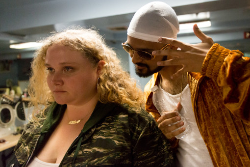 "Danielle Macdonald as ""Patti"" and Siddharth Dahanajay as ""Jeri"" in PATTI CAKE$. Photo by Jeong Park. © 2017 Twentieth Century Fox Film Corporation All Rights Reserved"