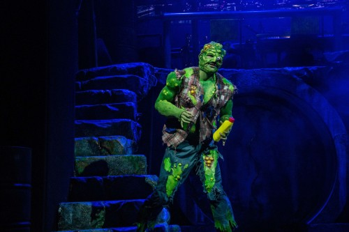 THE TOXIC AVENGER THE MUSICAL 1 Mark Anderson as Toxie Phorto Irina Chira