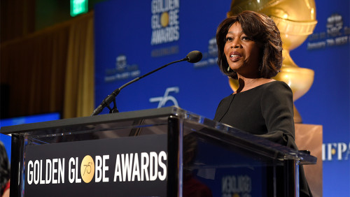 Alfre Woodard announces nominations for the 75th Annual Golden Globe Awards at the Beverly Hilton hotel on Monday, Dec. 11, 2017, in Beverly Hills, Calif. The 75th annual Golden Globe Awards will be held on Sunday, Jan. 7, 2018. (Photo by Chris Pizzello/Invision/AP)